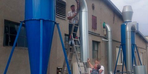 montaz cyklon odpylajacy suszenie oczyszczanie ziol euro komplex 1