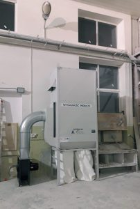 filtr EK 24 z wentylatorem ATEX w stoczni jachtowej euro komplex węgorzewo .