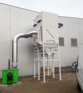 centralny odciag trocin ek 24 filtr z powrotem powietrza