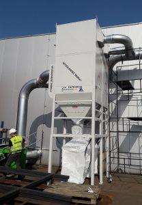 centralny odciag trocin big bag filtr ek 24 z powrotem powietrza euro komplex