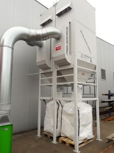 centralny odciag trocin ek 24 filtr z powrotem powietrza wydajnosc 18000 m3