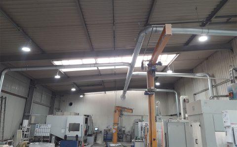 centralny odciag trocin filtr ek 24 instalacja wewnatrz hali euro komplex