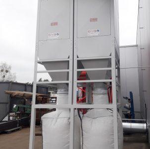 centralny odciag trocin filtr ek 24 odpad do big bag super wydajny euro komplex