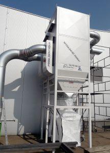 ek 24 cenralny odciag trocin z powrotem powietrza szafa sterownicza wentylatorem elektrowibracja